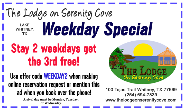 Lake Whitney Weekday Special